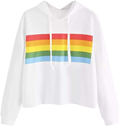 Image result for Rainbow-Striped Hoodie