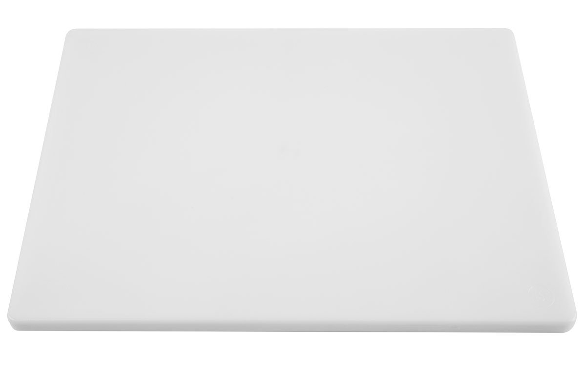 Thick White Poly Large Cutting Board for Food Service - 20 x 15 x 3/4 Inch Plastic