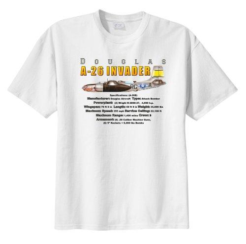 (Douglas A-26 Invader Bomber WarbirdShirtsTM Men's Short Sleeve T-Shirt White XXXL)