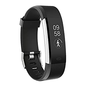 Toobur Fitness Tracker Watch, IP67 Waterproof Activity Tracker with Pedometer Heart Rate and Sleep Monitor,Step Calorie Counter Wristband Smart Watch for Android and iOS (Black)