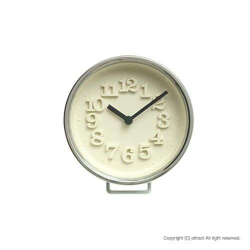 Lemnos レムノス 小さな時計 WR0715 シルバー スタンド付属 置時計 壁掛け時計 掛時計 ウォールクロック デザイン:渡辺力(インテリア デザイン 雑貨) B00D0833IA シルバー シルバー