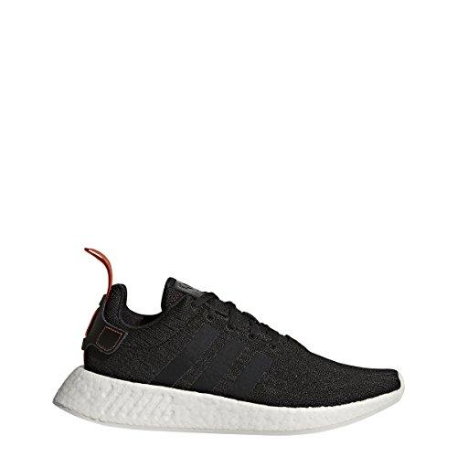 adidas Originals Men's NMD_R2 Sneaker, Black/Black/Future Harvest, 10.5 M US -