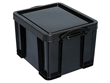 Really Useful Storage Box Plastic Recycled Robust Stackable 35 Litre W390xD480xH310mm Black Ref 35L  sc 1 st  Amazon UK & Really Useful Storage Box Plastic Recycled Robust Stackable 35 ... Aboutintivar.Com