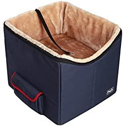 Petsfit Pet Booster Seat, Car Seat for Dogs and Cats, Foldable With Pocket (Small)