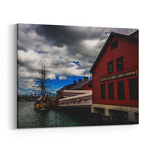 Rosenberry Rooms Canvas Wall Art Prints - The Boston Tea Party Museum, in Boston, Massachusetts (20 x 16 inches)