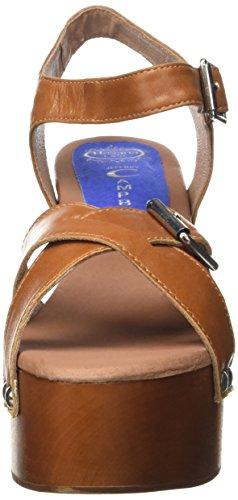 a Aperta Donna Marrone con Tacco Punta Peasy Scarpe Leather Tan Campbell Jeffrey wBqpZB