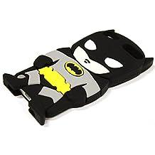 Bukit Cell 3D Superhero Bundle: Batman Black Cute Justice League Cartoon Silicone Case for Ipod Touch 6th Generation / 5th Generation + Screen Protector + Stylus Pen