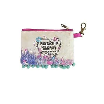 Amazon.com : Natural Life Zipper ID Bag, Friendship isnt ...