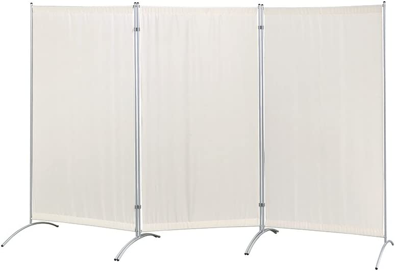 "Proman Products Galaxy Indoor Room Divider (3-Panel), 102"" W x 23"" D x 71"" H, Beige"