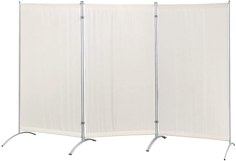 "Proman Products Galaxy Indoor Room Divider (3-Panel), 102"" W x 23"" D x 71"" H, Beige: Furniture & Decor"