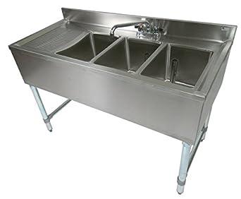 Amazon Com John Boos Eub3s48 1ld Stainless Steel Bar Sink