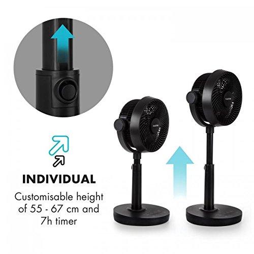 KLARSTEIN Neo Stream • Table Fan • VarioFresh 3D • 30 W • 8 Speeds • 3 Wind Speeds • 33-58 dB Quiet Operation • WhisperFlow Technology • Black