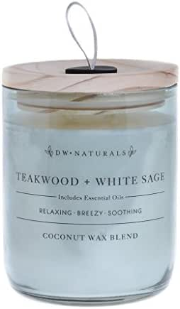 DW Home Decoware Coconut Wax Blend w/Essential Oils Naturals Collection -- Teakwood & White Sage