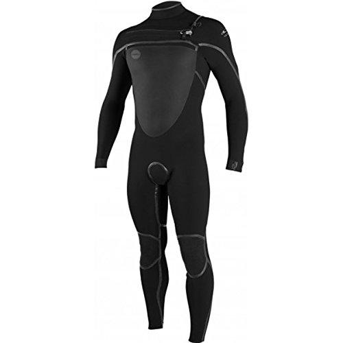3/2 Fullsuit Wetsuit - O'Neill Mens Psycho-Tech Fuze 3/2 Fullsuits Wetsuits, Black/Black / Large Short