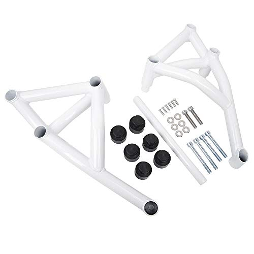 FATExpress Motorcycle White Steel Stunt Slider Cage Engine