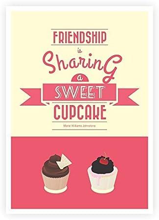 Amazon.com: LAB NO 4 Friendship is Sharing a Sweet Cupcake ...