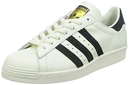 adidas Originals Herren Superstar 80s Deluxe Low-Top Weiß (Vintage White S15-ST/Core Black/Off White)