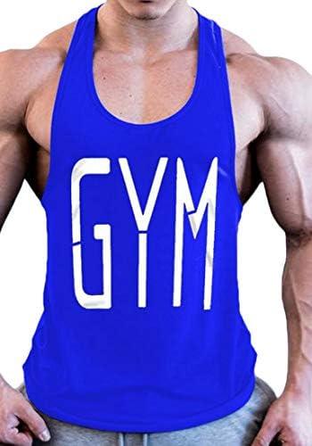 メンズボディービルストリンガージムタンクトップトレーニングノースリーブシャツ