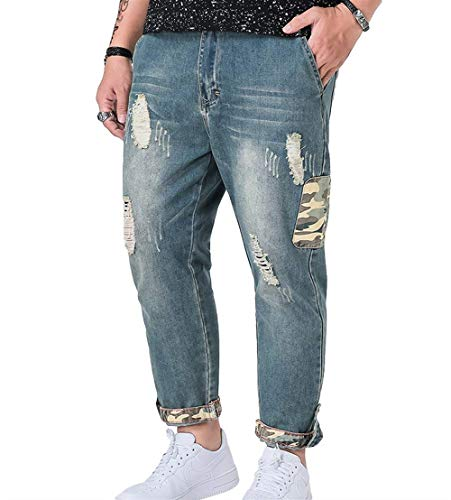 Giovane A Larghi Pantaloni Fashion Hellblau Estivi Jeans Casual Uomo Da Saoye T xvq0YwR4