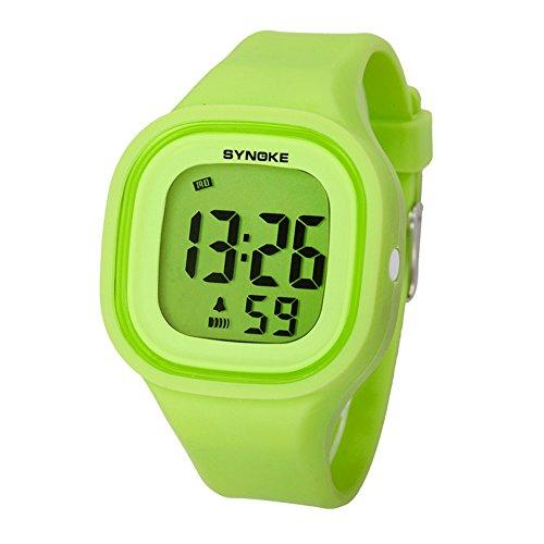 Boys and girls Sport digital watch,50m waterproof Chronograph stopwatch Luminous Alarm Calendar Jelly watch Childrens watches-B by FXBNHDFMF