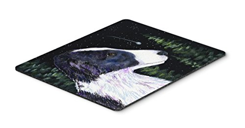 Caroline's Treasures SS8490MP Starry Night Border Collie Mouse pad, hot pad, or Trivet, Large, Multicolor