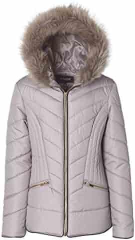 21d6249a86ade Sportoli Junior Women s Down Alternative Promo Puffer Jacket with Fur  Trimmed Hood