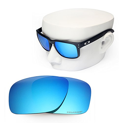 OOWLIT Replacement Sunglass Lenses for Oakley Holbrook Blue Mirror - Lens Oakley Blue Mirror