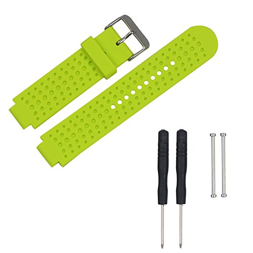 SCASTOE Replacement Silicone Watch Strap Band with Repair Tool + Pin for Garmin Forerunner 230 235 630 735 Lime