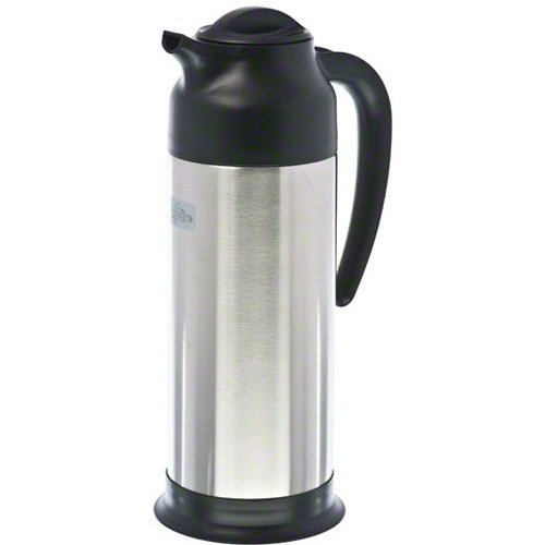Update International (SV-100) 33 Oz Black and Stainless Cream - Cream Pitcher