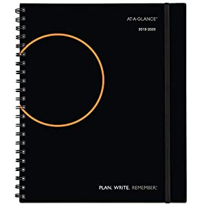 "AT-A-GLANCE 2019-2020 Academic Year Weekly & Monthly Planner/Appointment Book, Large, 8-3/4"" x 11"", Plan.Write.Remember, Black (70595705)"