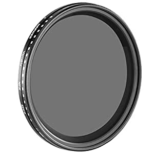 Neewer 58mm ND Fader Neutral Density Adjustable Variable Filter (ND2 to ND400)
