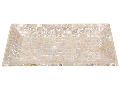 12x7 Decorative Serving Tray Breakfast Coffee Table Top Handmade by Mother of Pearl from Handicrafts Home (Mother Tables Of Pearl)