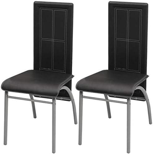 binzhoueushopping Lot de 2 chaises de Salle à Manger Noir