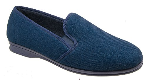 Mirak Slippers On Slip Navy Blue Mens CLEARANCE xw6qzPnX