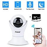 Aibole Pet Camera Wireless Security Camera, Dog Camera with Phone App 1080p World Cup 2018 New Full HD WiFi Video Monitor and Camera and 2-Way Audio, Include 32GB Micro SD