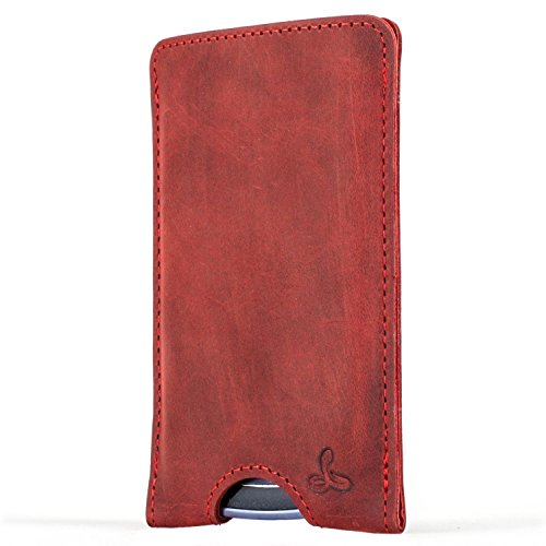 Snakehive Vintage Collection Samsung Galaxy S3 Mini Pouch Case Cover in Nubuck Leather with Credit Card/Note Slot (Burgundy)