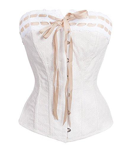Texinlun Women Strapless Bridal Fashion Corset Lingerie Wedding Dress Bustier
