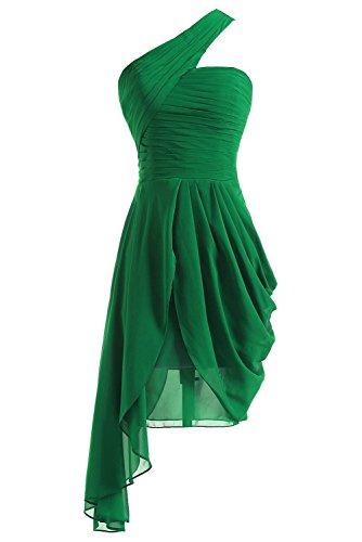 Une Robes De Demoiselle D'honneur Bleu Épaule Fanciest Femmes De Robes De Bal Courte De Bal Vert