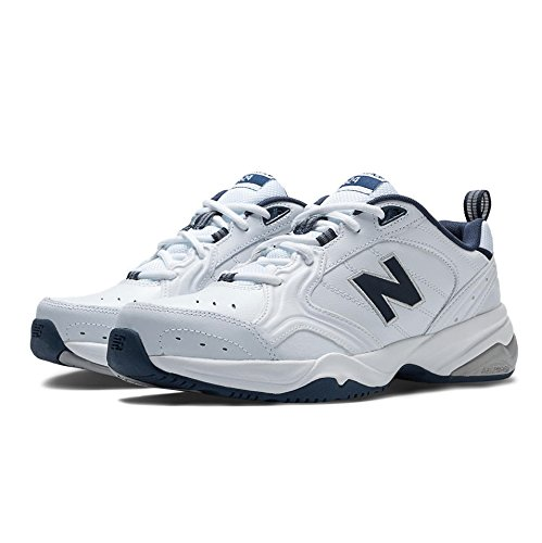 New Balance Men's MX624v2 Casual Comfort Training Shoe, White/Navy, 11.5 2E US