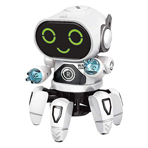 (Cidere Children Dancing Robot 7-Color Light Music Six-Claw Fish Electronic Toy Gift Remote- & App-Controlled Figures & Robots)