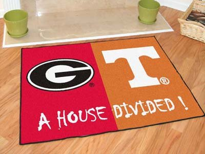 Wholesale Georgia - Tennessee All-Star House Divided Rug, [Collegiate, Other Colleges]