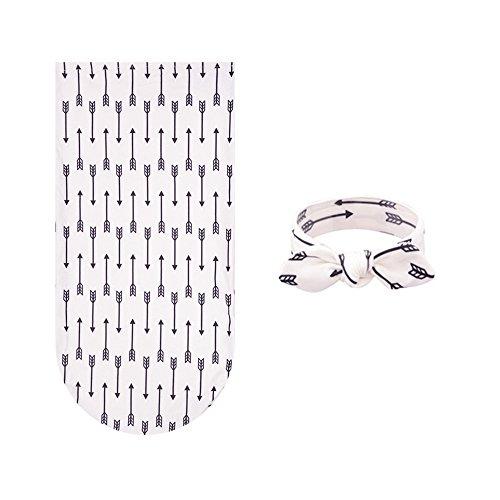 Little Mouse Newborn Swaddle,Swaddle Cocoon,Blanket&Headband Set (Arrow)