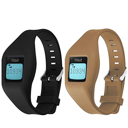 Allrun Fitbit Zip Band By, Newest Replacement Band for Fitbit Zip Accessory Wristband Bracelet (No tracker) (Black&Brown)