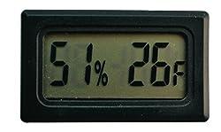 Sukragraha Mini Digital Temperature Humidity Meter Gauge Thermometer Hygrometer Lcd Degree Fahrenheit F Display Black
