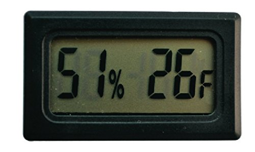 Price comparison product image SUKRAGRAHA Mini Digital Temperature Humidity Meter Gauge Thermometer Hygrometer LCD Degree Fahrenheit (F) Display Black