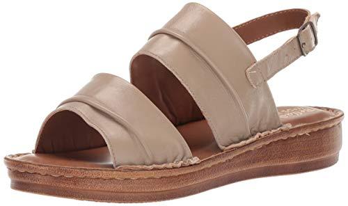Bella Vita Women's JES-Italy Slingback Sandal Shoe, Taupe Italian Leather, 7.5 2W US
