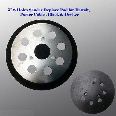 5'' 8 Hole Sander Pad For Dewalt D26453K D26451K Porter Cable 382 151281 DW423