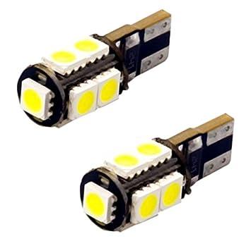 T10C9W - Blanca de Canbus SMD LED lámpara bombilla de repuesto luces de posición W5W T10