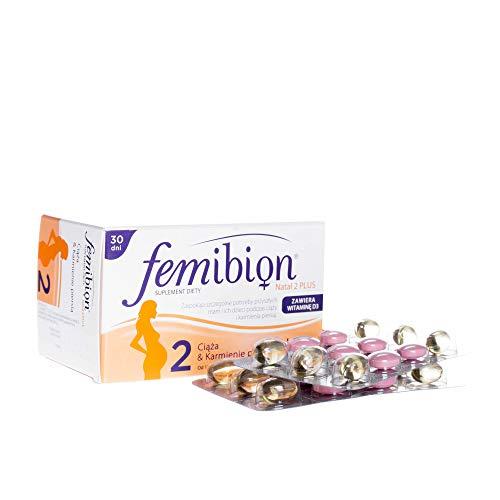 2 x FEMIBION Natal Plus #2-30 TABS + 30 CAPS - Total 60 CAPS + 60 TABS - Healthy Preganancy Vvitamins DHA