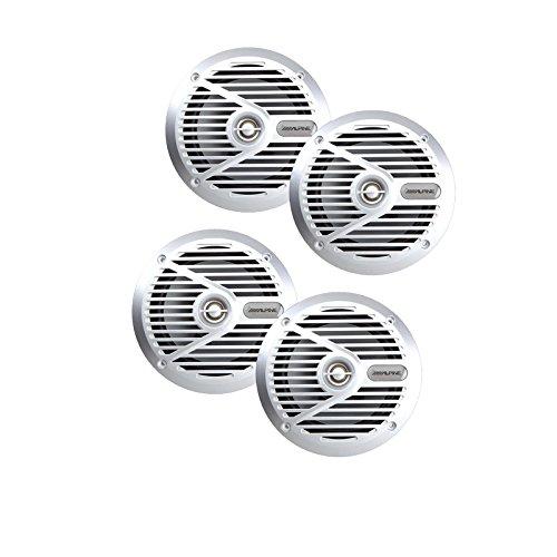 "Alpine SPS-M601 6-1/2"" Marine Coaxial 2-Way Marine Speaker (Alpine Marine Speakers)"